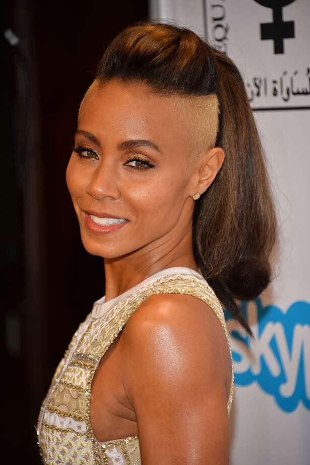 Jada Pinkett Smith showed up on a red carpet Monday night with an eye-catching new look - the sides of her head were shaved and bleached blond. Some people didn't care for the look, but at least she didn't take it all off. Take a look at these other ladies who have gone bald. Photo: Getty