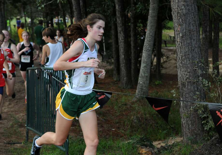 Awty's Bella Grant competes in the Varsity Girls race at the Nike South XC Invitational at Bear Branch Park on Oct. 5th. Photo: Jerry Baker, Freelance