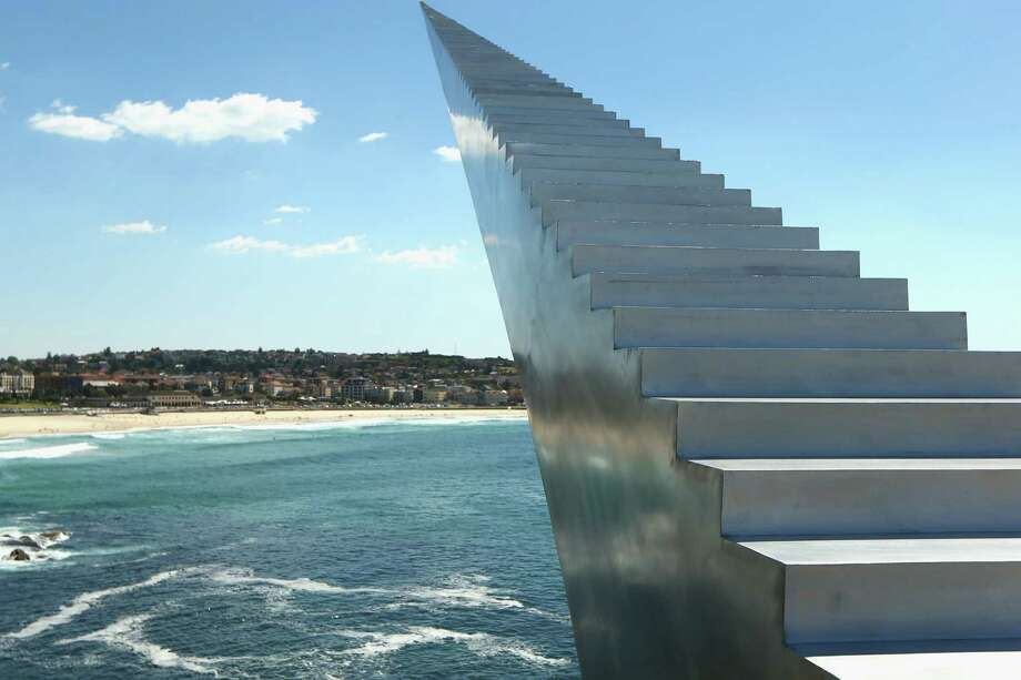 'Diminish and Ascend' by New Zealand artist David McCracken is displayed during the 2013 Sculptures by the Sea exhibition at Bondi on October 24, 2013 in Sydney, Australia. Photo: Cameron Spencer, Getty Images / 2013 Getty Images