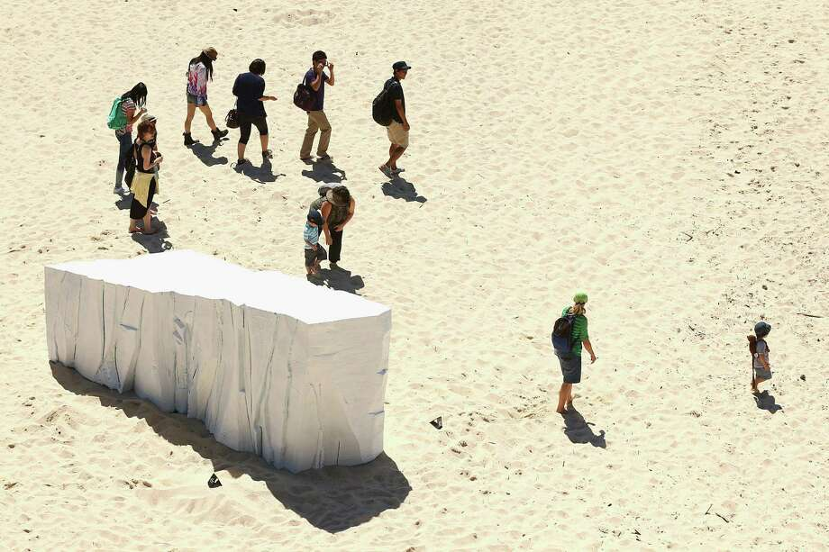 'Berg' by artist Warnockwise is displayed on Tamarama beach during the 2013 Sculptures by the Sea exhibition at Bondi on October 24, 2013 in Sydney, Australia. Photo: Cameron Spencer, Getty Images / 2013 Getty Images