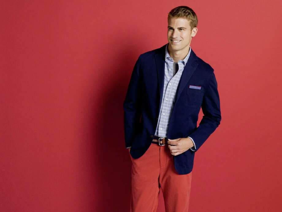 A Fall 2013 menswear colorful sports look from French designer Stephane Cremieux. Photo: Courtesy Photo / San Antonio Express-News