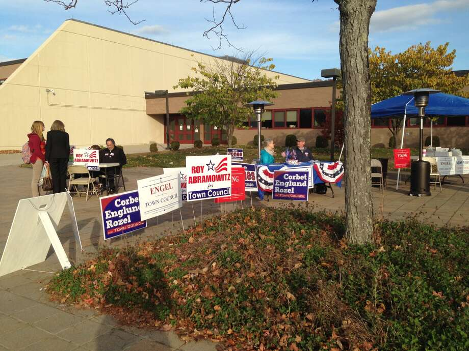 Voters head to the polls in New Canaan. Photo: Contributed Photo