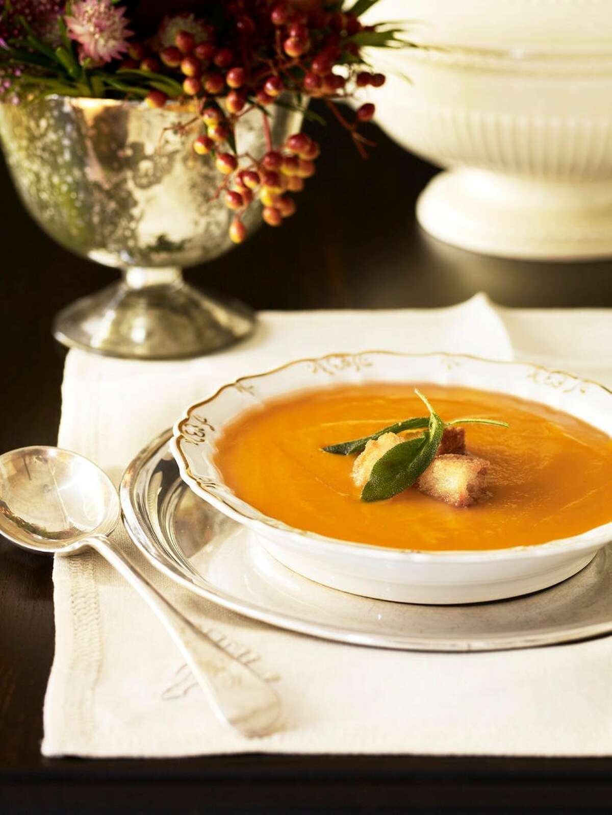 Good Housekeeping recipe for Butternut Squash Soup with Sage.