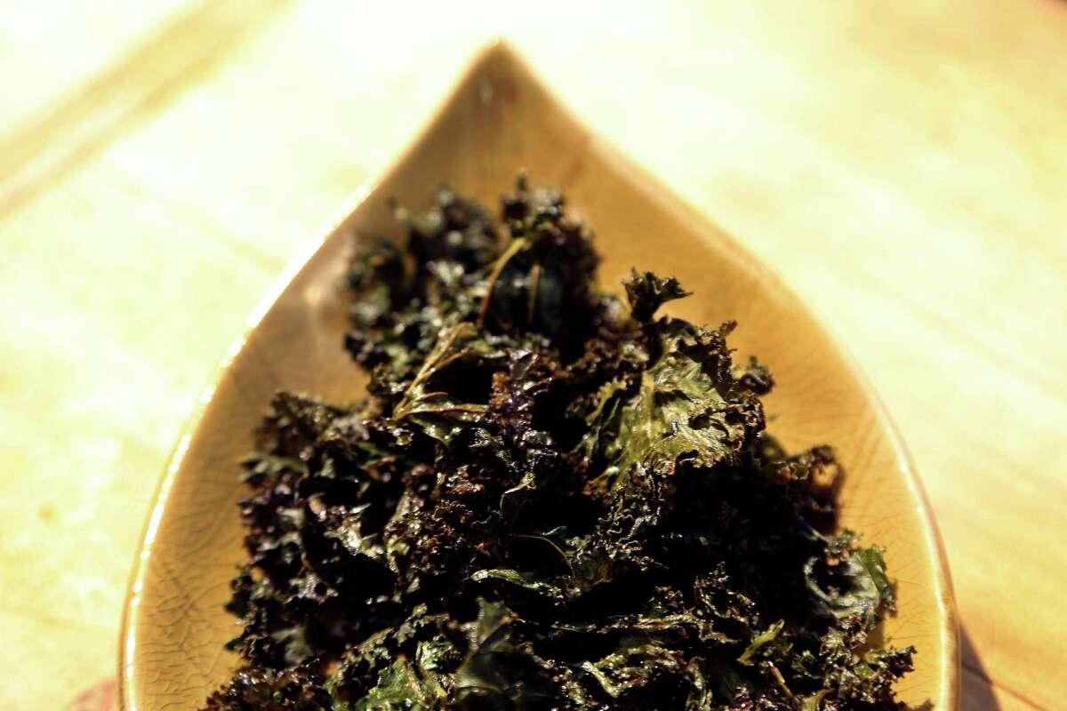 Kale chips photographed for K2K, Tuesday, Oct. 15, 2013, in Houston. ( Karen Warren / Houston Chronicle )