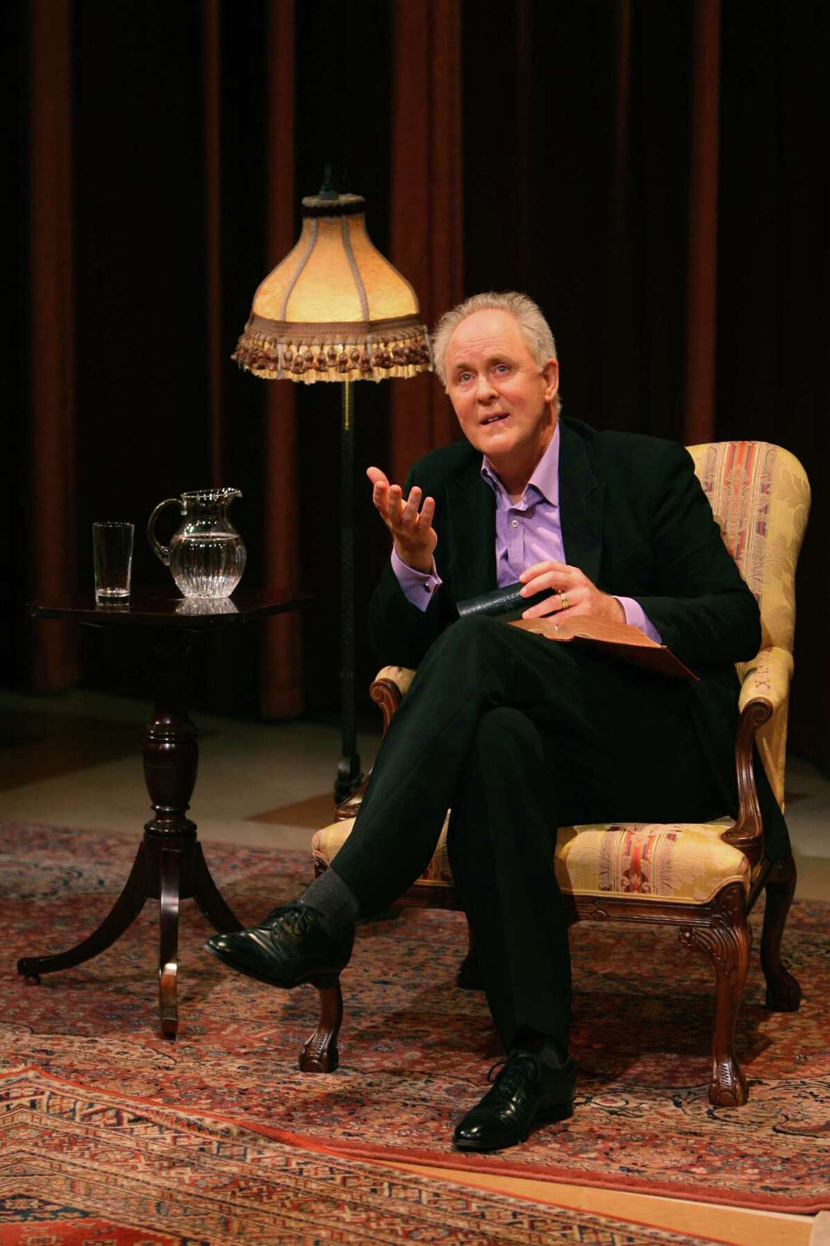 """Two-time Oscar nominee John Lithgow reflects on storytelling as the tie that binds humanity in his one-man show, """"Stories by Heart,"""" which will be presented Friday, Nov. 15 at the Regina A. Quick Center for the Performing Arts on the Fairfield University campus."""