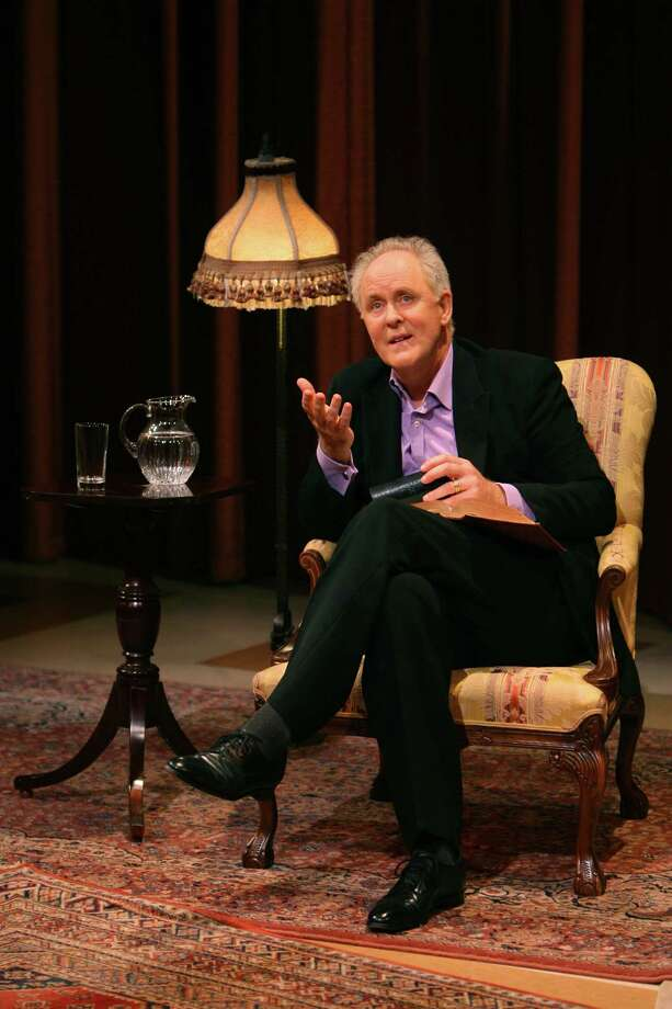 "Two-time Oscar nominee John Lithgow reflects on storytelling as the tie that binds humanity in his one-man show, ""Stories by Heart,"" which will be presented Friday, Nov. 15 at the Regina A. Quick Center for the Performing Arts on the Fairfield University campus. Photo: Contributed Photo / Connecticut Post Contributed"