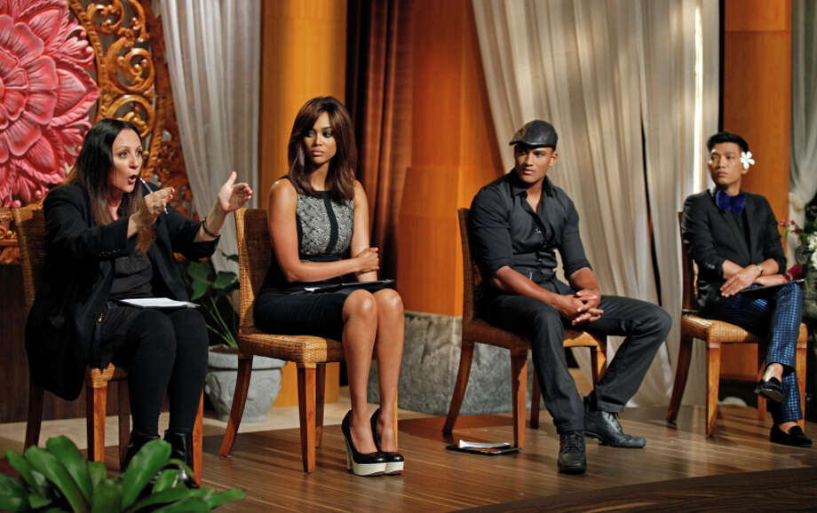 "America's Next Top Model -- ""The Girl Who Gets Kissed on an Elephant"" pictured left to right: Kelly Cutrone,Tyra Banks, Rob Evans and Bryanboy Cycle 20 Photo: Angelo Sgambati/The CW ©2013 The CW Network, LLC. All Rights Reserved Photo: Angelo Sgambati, The CW / ©2013 The CW Network, LLC. All Rights Reserved"
