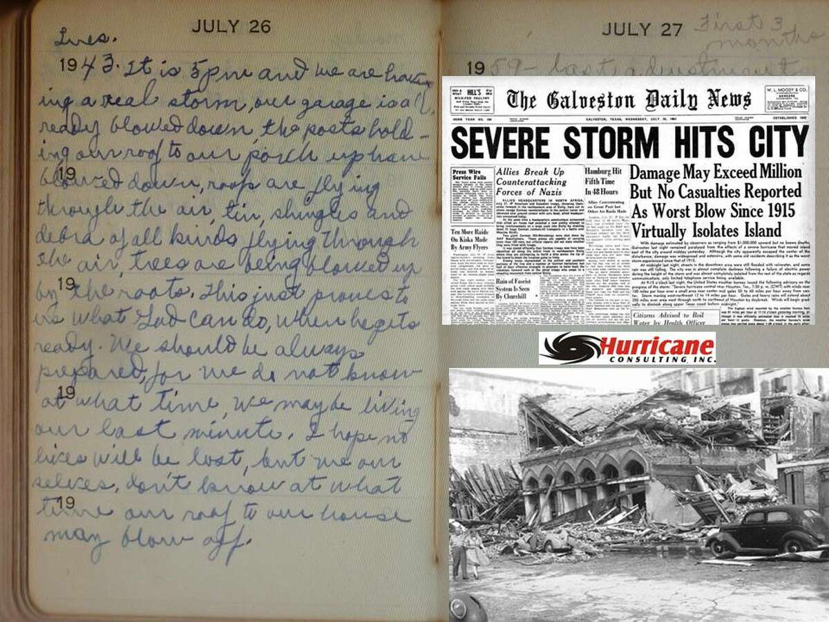 Lew Fincher researched rare documents about the Surprise Hurricane of 1943.