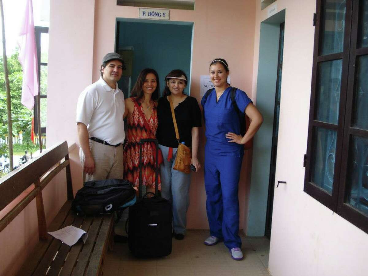 Alvin Community College graduate Nova Sprague, right, traveled to Vietnam with, from left, Dr. Jose Banchs, Tu Nguyen and Liza Y. Sanchez.