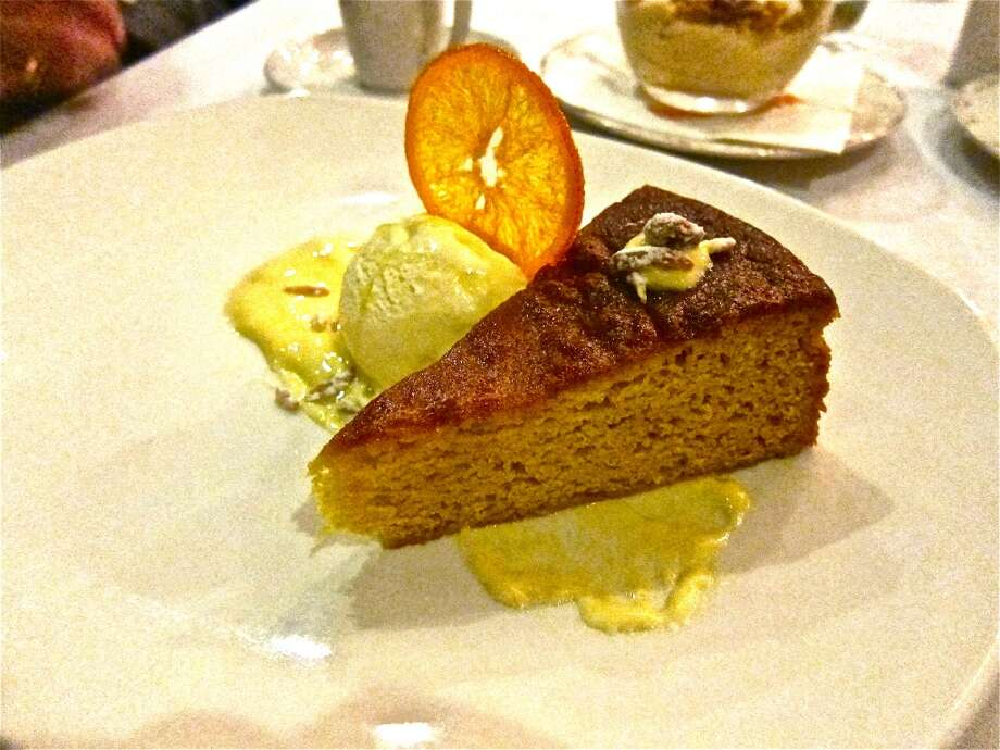Olive oil cake at Osteria Mazzantini. Photo: Alison Cook