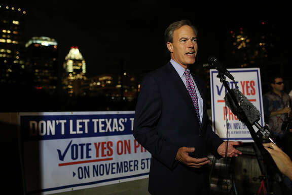 "Joe Straus, speaker of the Texas House, led the drive for Proposition 6 and hailed Tuesday's vote as ""a good night for Texas."""