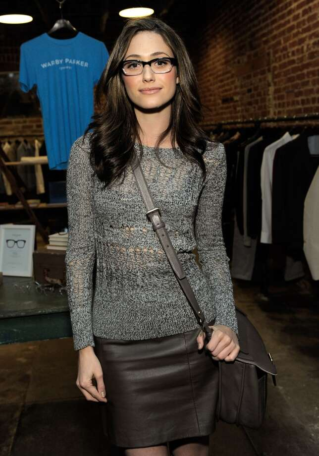 Actress Emmy Rossum attends Warby Parker LA Launch at Confederacy on November 1, 2011 in Los Angeles, California. Photo: Charley Gallay, WireImage