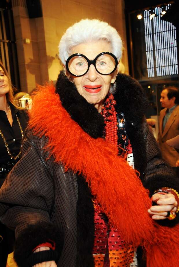 Fashion Icon Iris Apfel attends the Iris Apfel Handbag Collection Launch at Henri Bendel on October 12, 2012 in New York City. Photo: Desiree Navarro, Getty Images