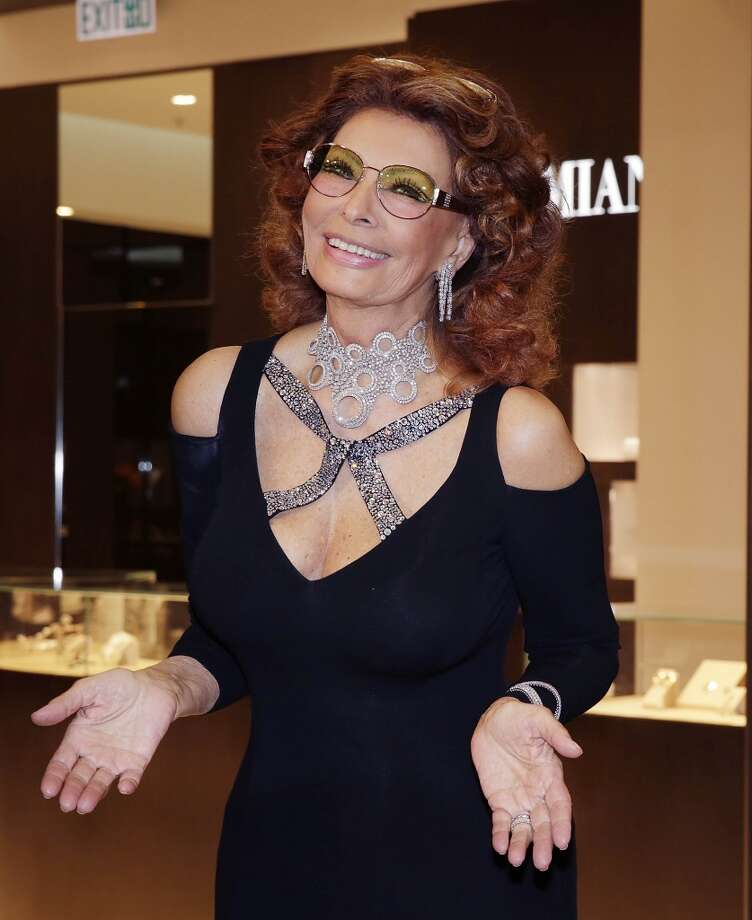 Actress Sophia Loren makes an appearance at the opening of the Damiani flagship store in Element Mall, West Kowloon on April 20, 2013 in Hong Kong, Hong Kong. Photo: Jessica Hromas, Getty Images