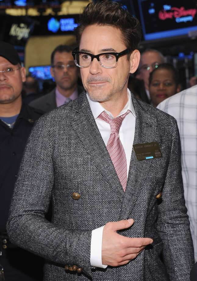 Actor Robert Downey Jr. seen before ringing the opening bell at the New York Stock Exchange on April 30, 2013 in New York City. Photo: Gary Gershoff, WireImage