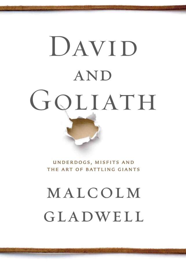 "David and Goliath - Malcom Gladwell - ""In David and Goliath, Malcolm Gladwell challenges how we think about obstacles and disadvantages, offering a new interpretation of what it means to be discriminated against, or cope with a disability, or lose a parent, or attend a mediocre school, or suffer from any number of other apparent setbacks. Gladwell begins with the real story of what happened between the giant and the shepherd boy those many years ago. From there, David and Goliath examines Northern Ireland's Troubles, the minds of cancer researchers and civil rights leaders, murder and the high costs of revenge, and the dynamics of successful and unsuccessful classrooms---all to demonstrate how much of what is beautiful and important in the world arises from what looks like suffering and adversity. In the tradition of Gladwell's previous bestsellers---The Tipping Point, Blink, Outliers and What the Dog Saw---David and Goliath draws upon history, psychology, and powerful storytelling to reshape the way we think of the world around us."" Amazon Description"