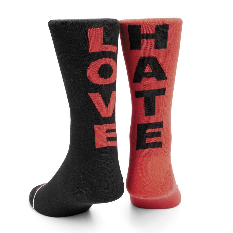 DIESEL Love/Hate socks in cashmere, $15. Photo: Courtesy Of Saks Fifth Avenue