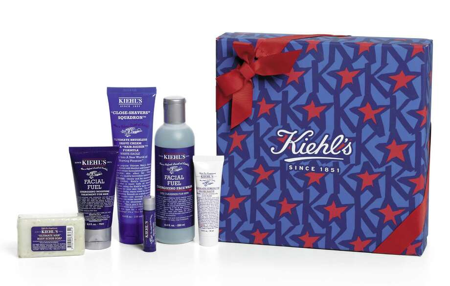 KIEHL'S SINCE 1851 Box set of men's refueling products, $58. Photo: Courtesy Of Saks Fifth Avenue
