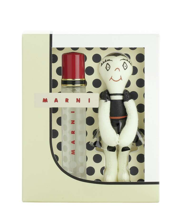 Marni designer Consuelo Castiglioni has loved dolls all her life (you can find them in all her boutiques). The huggy doll that accompanies this fragrance set is a reminder to seek the magic in everyday life, $50. Photo: Courtesy Of Saks Fifth Avenue