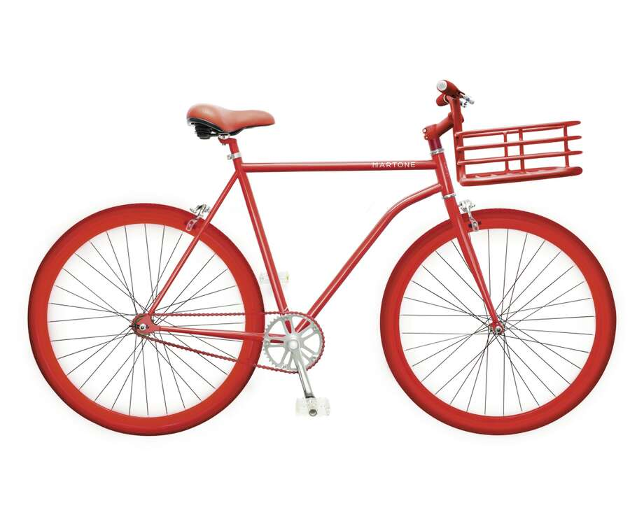 MARTONE CYCLING CO. Steel and aluminum bicycle with built-in basket, $899. Photo: Courtesy Of Saks Fifth Avenue