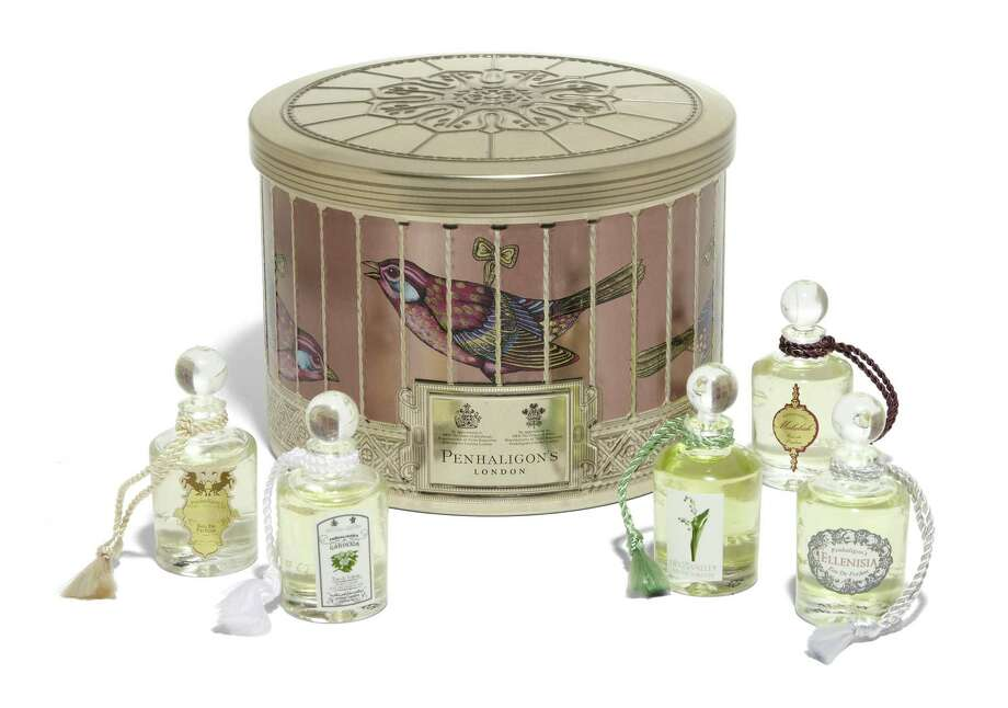 PENHALIGON'S Vicotrian-inspired bird's cage embossed gift box with five best-selling mini fragrances, $50. Photo: Courtesy Of Saks Fifth Avenue