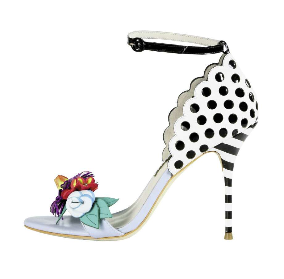 SOPHIA WEBSTER Lightweight sandals with floral trim, $595. Photo: Courtesy Of Saks Fifth Avenue