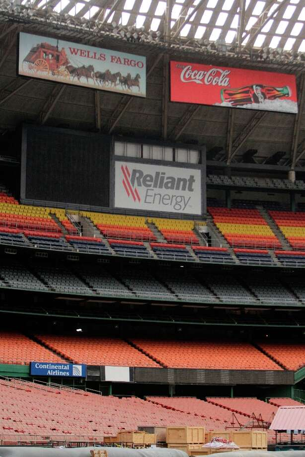 Seats and signage shown inside the Astrodome during a media tour of the Reliant Astrodome Thursday, March 21, 2013, in Houston. ( Melissa Phillip / Houston Chronicle ) Photo: Melissa Phillip, Houston Chronicle / © 2013  Houston Chronicle