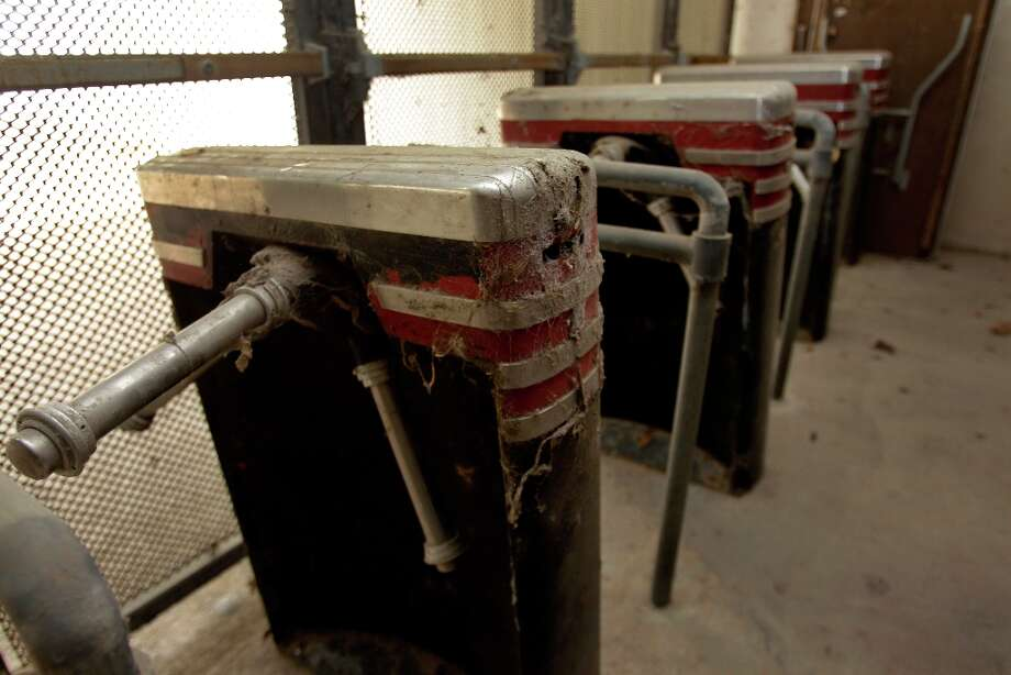 Turnstiles shown during a media tour of the Reliant Astrodome Thursday, March 21, 2013, in Houston. ( Melissa Phillip / Houston Chronicle ) Photo: Melissa Phillip, Houston Chronicle / © 2013  Houston Chronicle