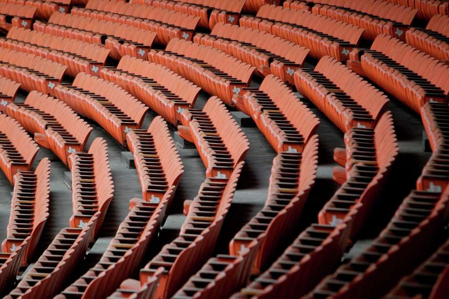 Seat inside the Astrodome shown during a media tour of the Reliant Astrodome Thursday, March 21, 2013, in Houston. ( Melissa Phillip / Houston Chronicle ) Photo: Melissa Phillip, Houston Chronicle / © 2013  Houston Chronicle