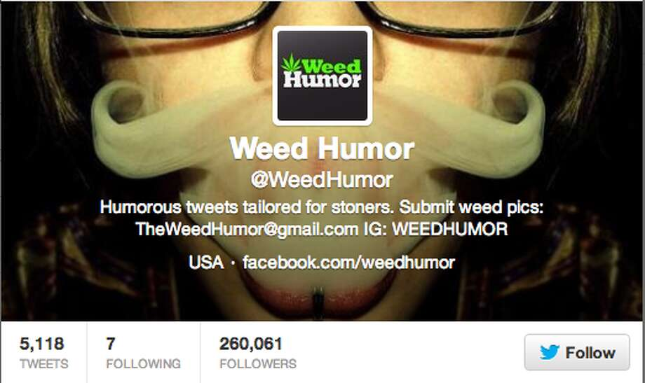 Visit this account for a few stoned laughs.