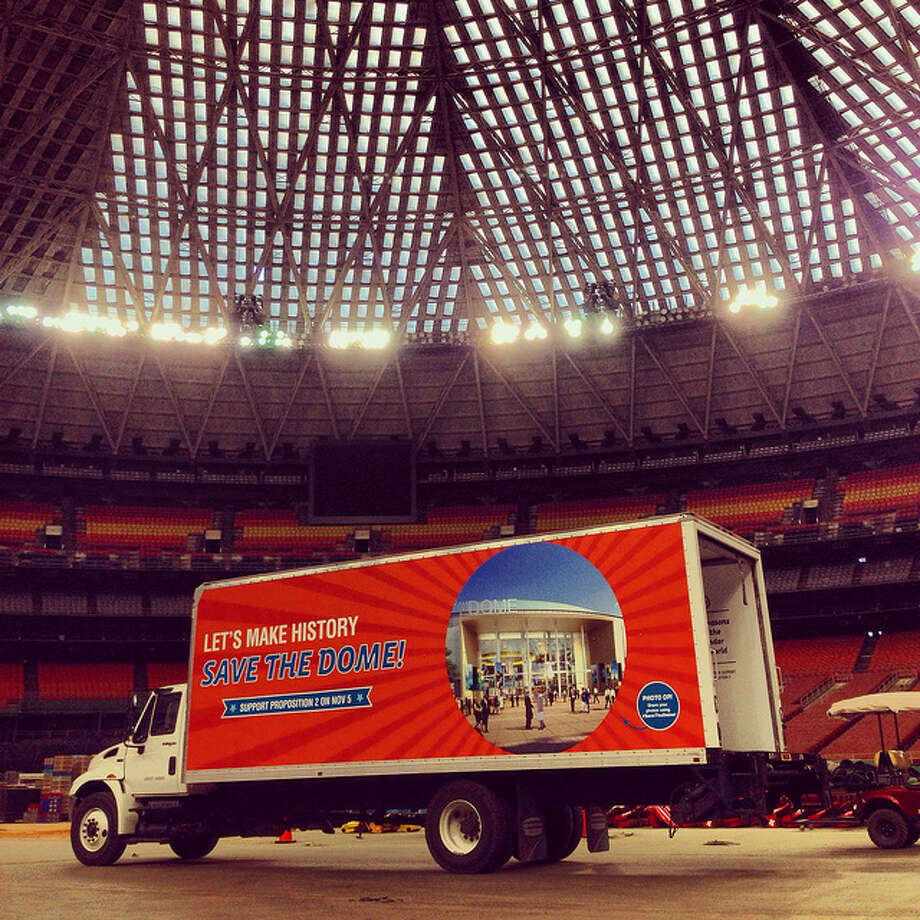 "From Monday, Oct. 21, through Election Day, the ""Save the Dome"" Coalition took the Dome Mobile on a multi-stop tour around Houston. Photo: (Courtesy Of OurAstrodome.org)"
