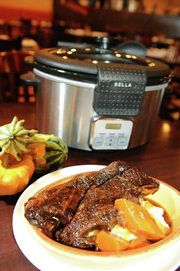 Braised short ribs on Friday, Nov. 1, 2013, at Chez Mike in East Greenbush, N.Y. (Cindy Schultz / Times Union) Photo: Cindy Schultz / 00024478A
