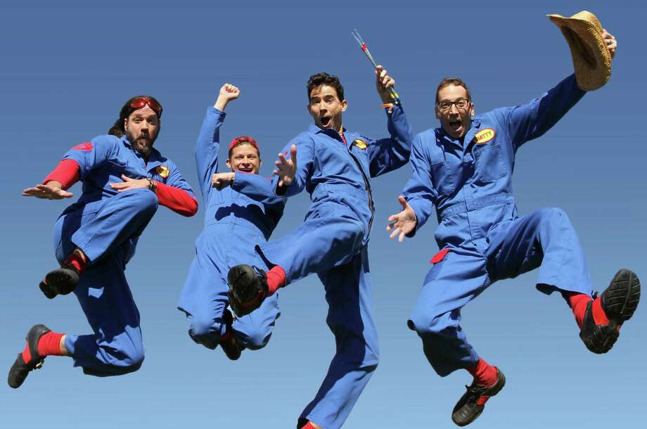 Imagination Movers take the stage Saturday, Nov. 9 at 1 p.m. at The Cynthia Woods Mitchell Pavilion's 18th Annual Children's Festival. Imagination Movers are four blue-suited musicians whose job is to find innovative solutions to silly and practical problems while performing catchy songs. Photo: Courtesy Photo / ONLINE_YES