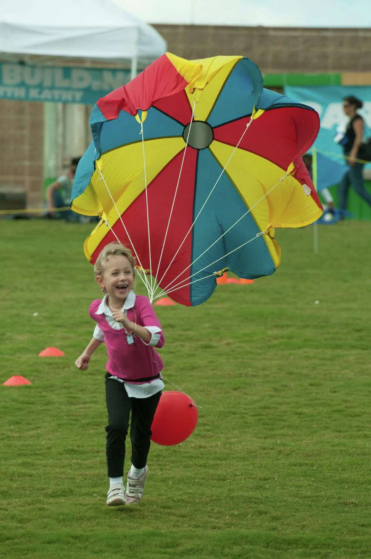 The adventure at the 18th Annual Children's Festival at The Cynthia Woods Mitchell Pavilion Nov. 9-10, 2013, includes kite flying and parachute races on the hill. Kids also can pan for gold, make arts and crafts, get their face painted, take a train ride and more.