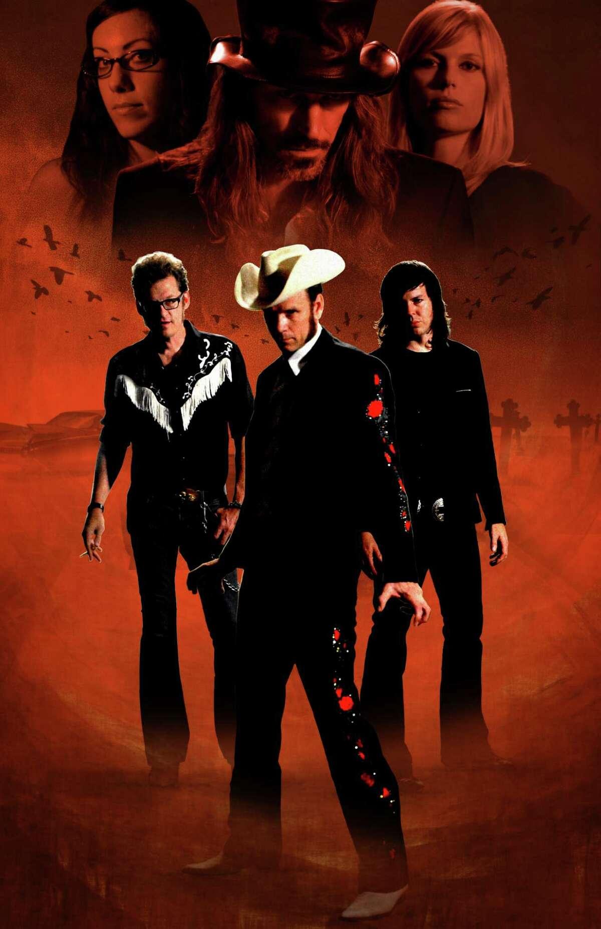 Honky Tonk Blood, starring John Evans, left, Johnny Falstaff and Hank Schyma.