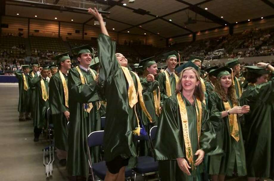 Roosevelt's class of 2000 graduates.  Photo: P-I File