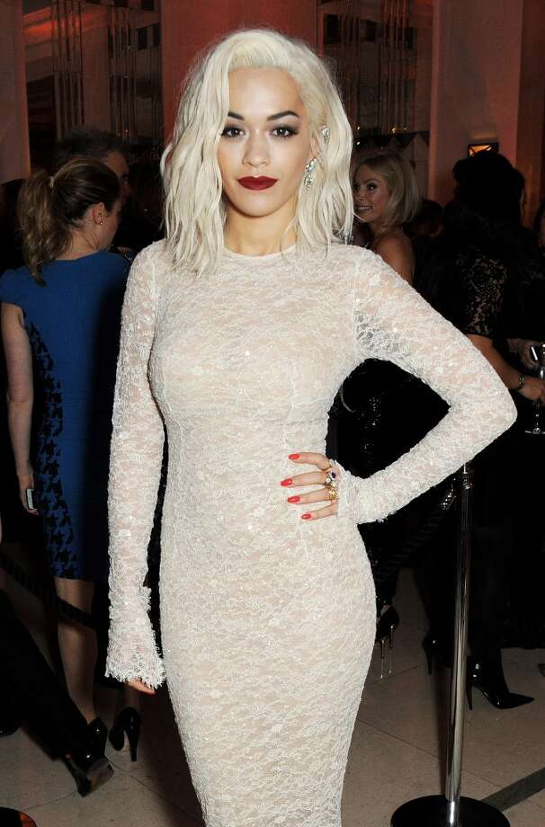Rita Ora arrives at the Harper's Bazaar Women of the Year awards at Claridge's Hotel on November 5, 2013 in London, England.  (Photo by David M. Benett/Getty Images) Photo: David M. Benett, Getty Images