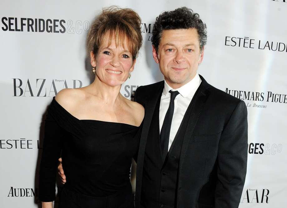 Lorraine Ashbourne (L) and Andy Serkis arrive at the Harper's Bazaar Women of the Year awards at Claridge's Hotel on November 5, 2013 in London, England.  (Photo by David M. Benett/Getty Images) Photo: David M. Benett, Getty Images