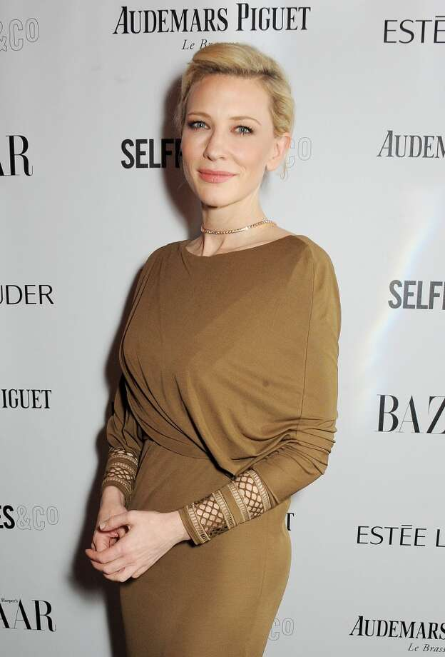 Cate Blanchett arrives at the Harper's Bazaar Women of the Year awards at Claridge's Hotel on November 5, 2013 in London, England.  (Photo by David M. Benett/Getty Images) Photo: David M. Benett, Getty Images