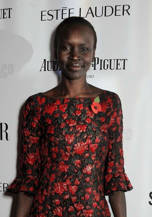 Alek Wek arrives at the Harper's Bazaar Women of the Year awards at Claridge's Hotel on November 5, 2013 in London, England.  (Photo by David M. Benett/Getty Images) Photo: David M. Benett, Getty Images