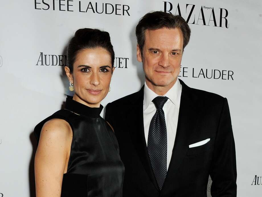 Livia Firth (L) and Colin Firth arrive at the Harper's Bazaar Women of the Year awards at Claridge's Hotel on November 5, 2013 in London, England.  (Photo by David M. Benett/Getty Images) Photo: David M. Benett, Getty Images