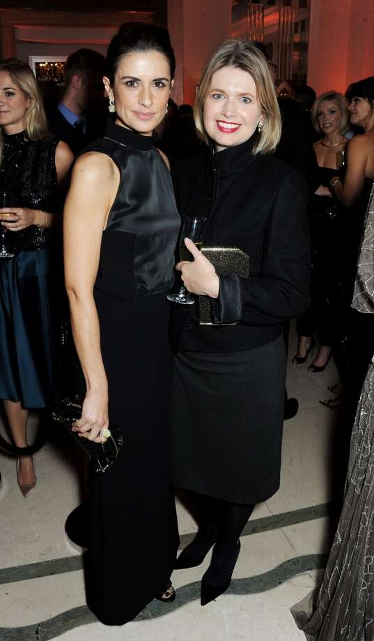 Livia Firth (L) and Jenny Packham arrive at the Harper's Bazaar Women of the Year awards at Claridge's Hotel on November 5, 2013 in London, England.  (Photo by David M. Benett/Getty Images) Photo: David M. Benett, Getty Images