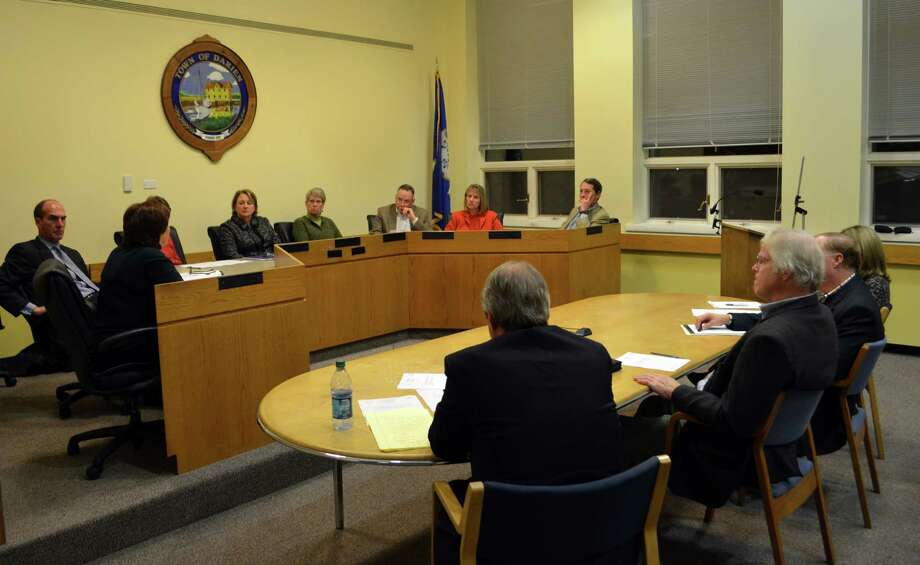 The Board of Finance and Board of Selectmen came together in a joint special meeting to approve the hiring of an independent auditor. Photo: Megan Spicer / Darien News