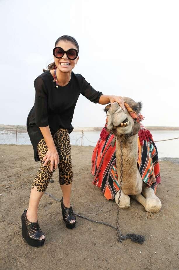 Paula Abdul visits the Dead Sea on November 1, 2013 in Galilee, Israel. Photo: Tiffany Rose, WireImage