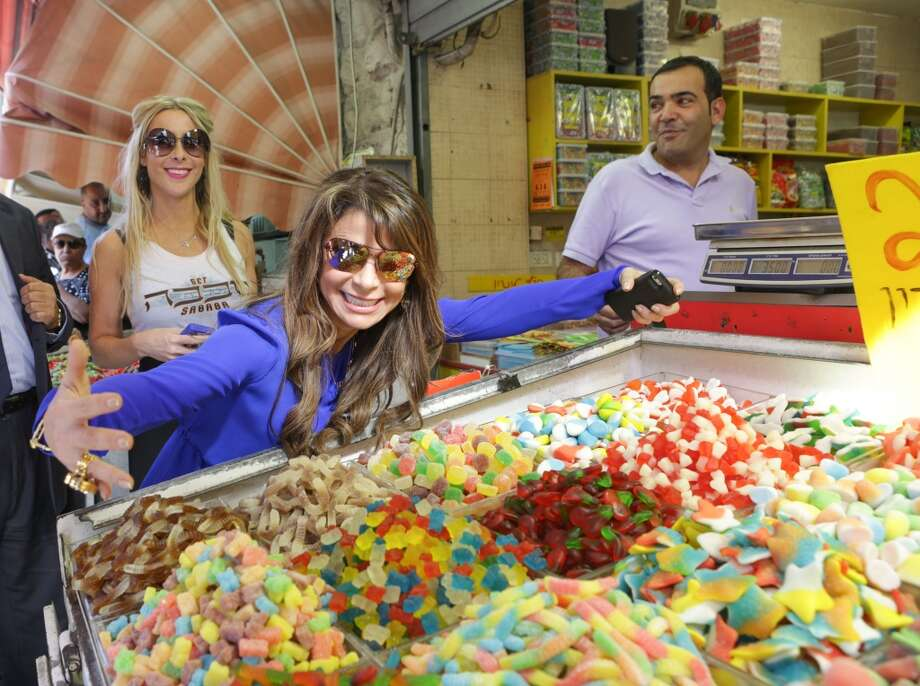 Paula Abdul visits  the historical Machane Yehuda Market on October 29, 2013 in Jerusalem, Israel. Photo: Tiffany Rose, WireImage