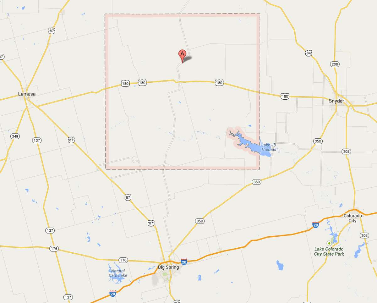 Borden County The county is in between Midland and Abilene.