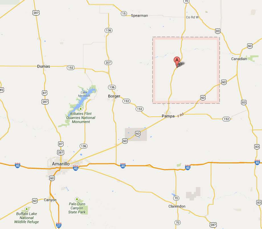 Roberts CountyThe county is northeast of Amarillo. Photo: Google Maps
