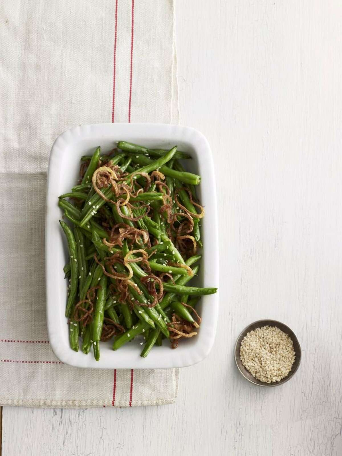 Country Living recipe for Sesame-Ginger Green Beans.