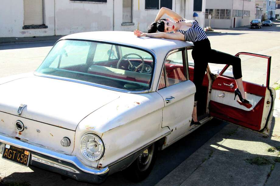 Olivia Dantes' daily driver is this 1962 Ford Falcon, which she and her husband, Dominic Davi, work on together.