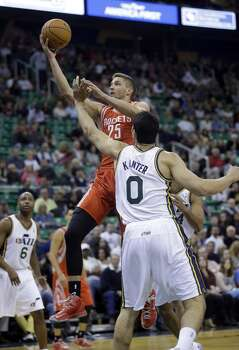 Nov. 2: Rockets 104, Jazz 93   Chandler Parson scored 24 points and snagged 12 rebounds to go along with 6 assists as the Rockets overcame a slow start to knock off the Jazz in Utah.  Record: 3-0 Photo: Rick Bowmer, Associated Press